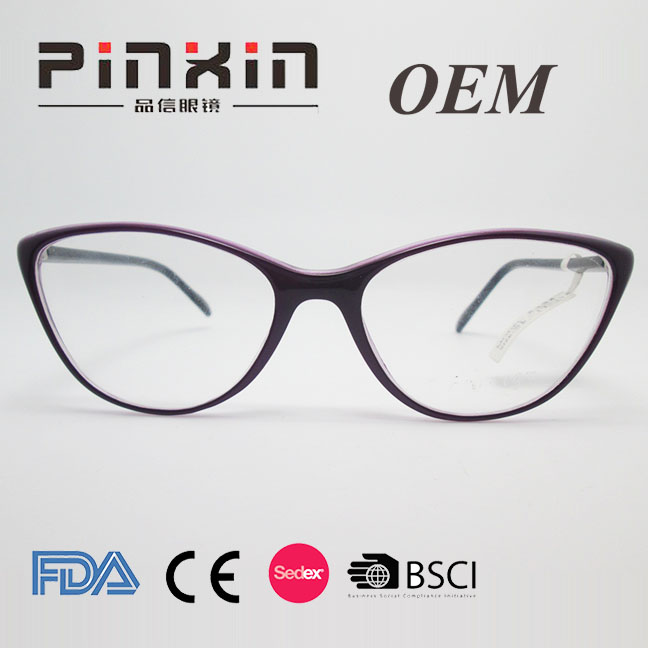 Dual color plastic built-in flexible hinge rectangle light weight reading glasses