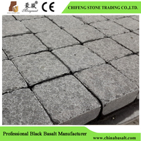 Black Tumbled Paving Stone