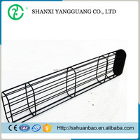 Stainless steel flat filter bag cage