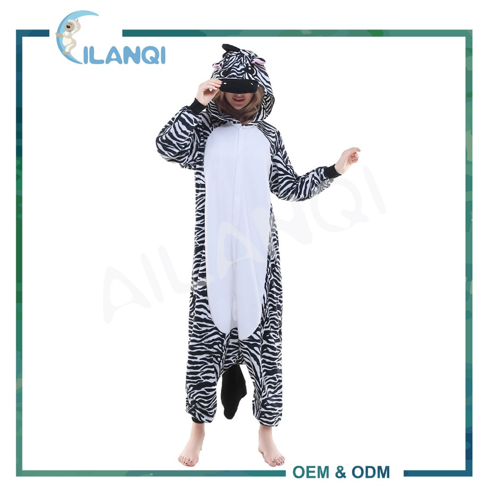ALQ-A006 Quick dry funny pajamas adult onesie costume for sale