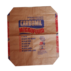 Brown kraft paper bag for cement sand flour powder packaging