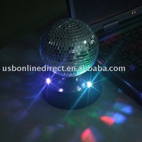 USB mirror ball with LED light