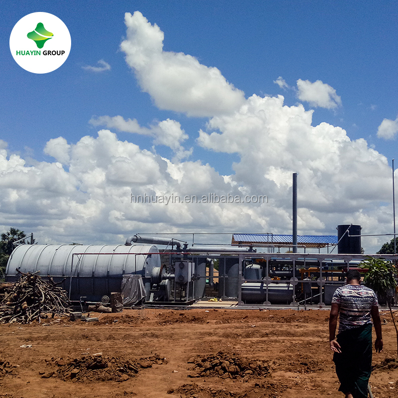 Start running in 2017 May old tire to fuel oil pyrolysis plant in Sri Lanka