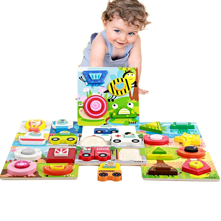 FQ brand funny kids educational wood baby toys mind tray 3d 4d puzzle custom toys game toy 3d block iq wooden jigsaw puzzle