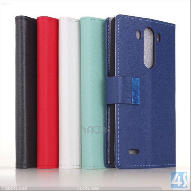 Mobile Phone Pouch Leather Case for LG G3 P-LGG3SPCA001