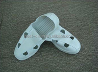 ESD Shoes/Four-holes leather esd shoes used in cleanroom