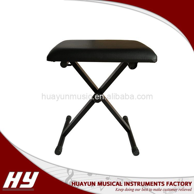 Folding electric organ stool , piano bench, adjustable keyboard bench