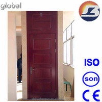 Light Red Walnut Wooden Door