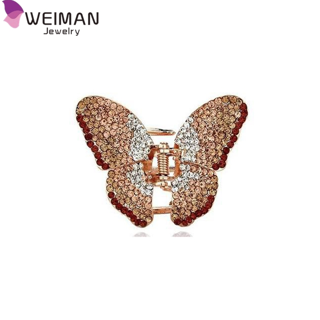 Shining Crystal BOW Hair Clip Rhinestone Butterfly Hairpin Women's Hair Accessories