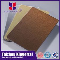 Alucoworld CE certification kitchen cabinets use fireproof aluminum wall facade acp sheet