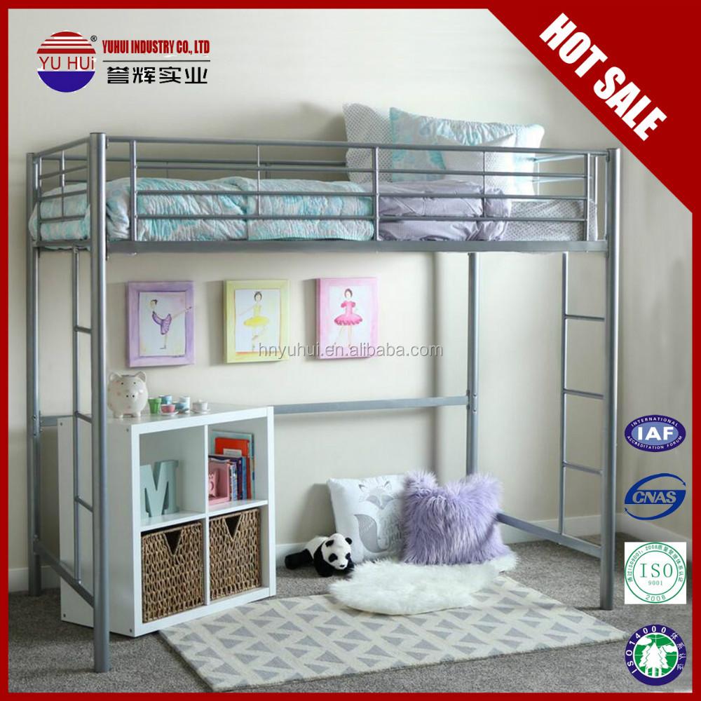 Queen bed frames metal bed frames queen cheap loft bed for Cheap bunk bed frames