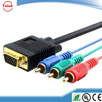 hot sale factory direct vga to 3 rca cable
