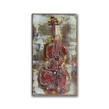 Broken Abstract Guitar Metal Wall Art for Coffee Decor