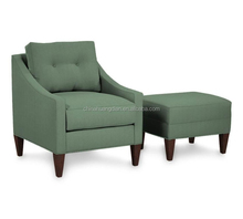 green fabric bedroom sofa chair with ottoman HDL1708