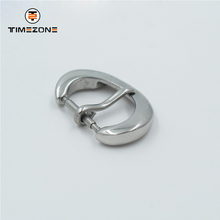 Wholesale 12mm curved buckle watch part solid stainless steel strap buckle
