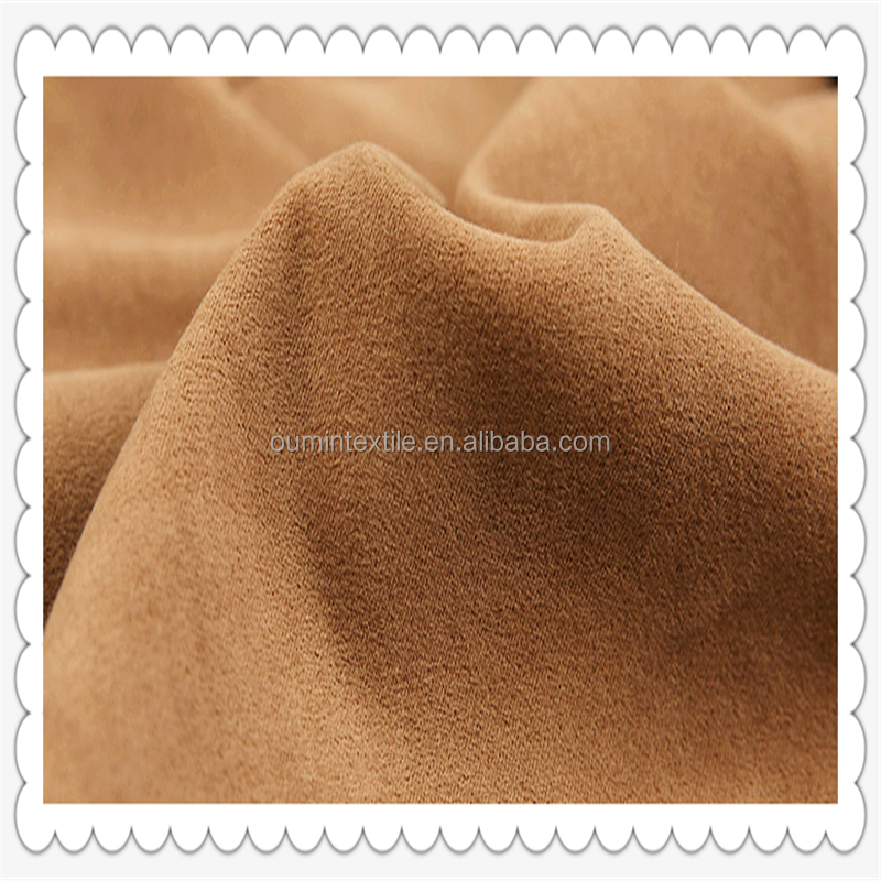 Micro fiber brushed suede backing bonded t/c fabric material for sofa and garments upholstery