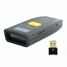 Bluetooth Wireless business card reader long distance 2D barcode scanner with display