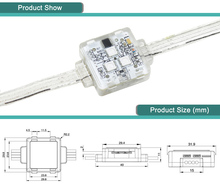 YD Buint-in DC12V square type addressable RGB led smart pixel node