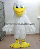 sm 266 furry white adult Pelican Mascot costume pelican bird adult costume