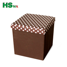 HStex folding storage cheap ottoman for sitting