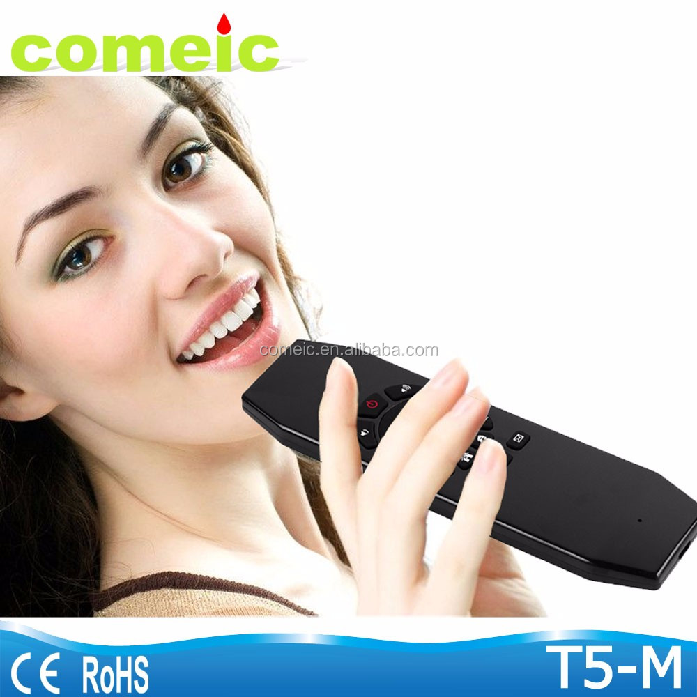 Rechargeable Air mouse Voice Remote Control T5M Android Remote with Micphone