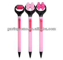 Massage plastic ball pen, novelty pen