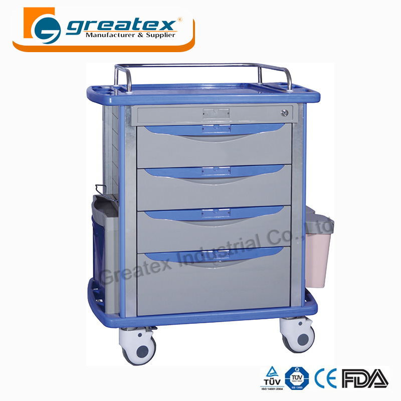 Steel medical carts salon rolling utility cart metal