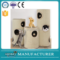 2016 New design cat barrel / cat tree tower