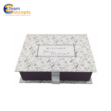 Luxury Decorative Ribbon Square Paper Cardboard Cookie Gift Box