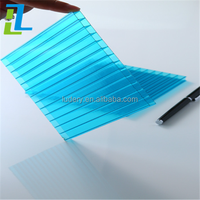 waterproof plastic polycarbonate pc hollow sheet for greenhouse/roofs/walls
