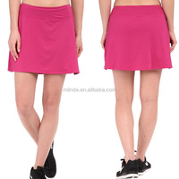 Apparel Clothing Wholesale Fancy Pink Plain Blank Custom Sexy Ladies Sports Girls Gym Wear Women Mini Skirt With Shorts