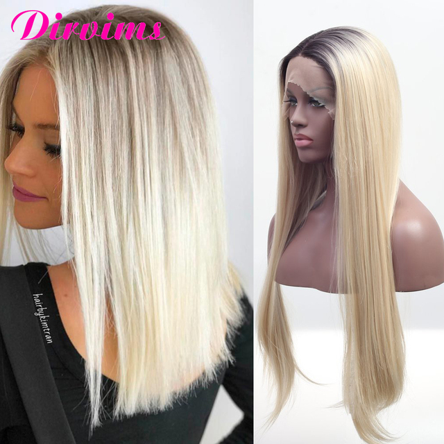 10 inch To 24 inch 100% Real Brazilian Remy Ombre Blonde Wig Human Hair Lace Front Wig For Black Women