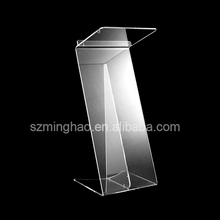Displays Acrylic Conference Podium, lucite Z shape Speaker's Lectern