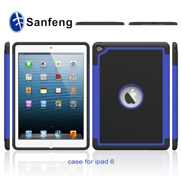 Three Layers Combined Mobile Phone Cover Case for Apple ipad Air 2