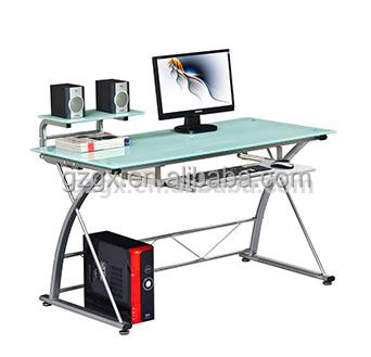 Hot White High Gloss Tempered Glass Computer Desk Buy