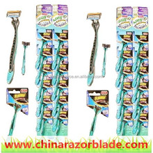2016 Kason stainless steel triple blade Disposable Razor from www.chinarazorblade.com
