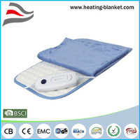 CE GS Fleece Cover Washable Fast Heating Auto Off 90 Mins 100W Electric Heat Pad For Back Pain