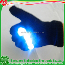 Led lighting party gloves wide optical fiber flashing glove