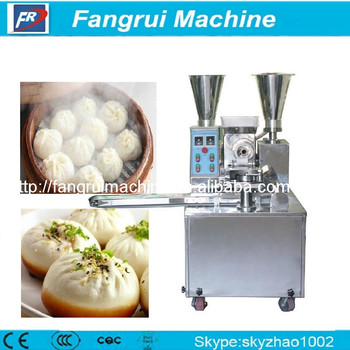 Chinese Momo rheon steamed stuffed bun encrusting machine