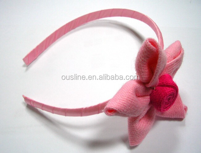 pink star lovely Handmade Elastic Baby and Children lace pearl Headbands and Hair Accessories