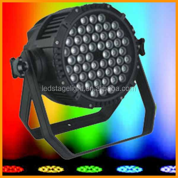 IP65 Water proof RGB 54*3W LED lighting Par portable Bar
