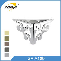 ZF-A109 metal furniture table leg brackets caps metal