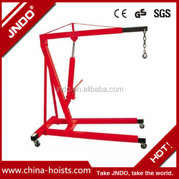 mobile shop crane 2t engine hoist cherry pick engine crane