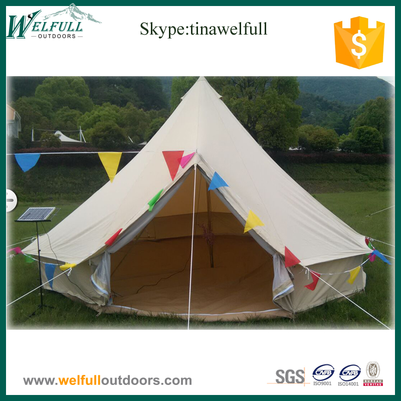 Large Single Wall 6m Family Camping Canvas Bell Tent