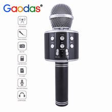 Gaodas Wireless Portable Handheld KARAOKE Microphone Compatible with Android & IOS For home party outdoor