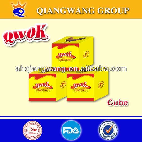 10g*48pcs*30boxes QWOK HALAL CHICKEN CUBE