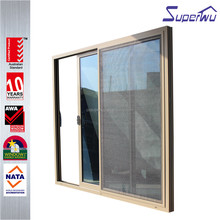 Energy saving Superwu brand aluminum glass single track sliding doors
