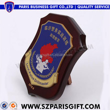 Custom wood shields awards gifts souvenir for drillmaster