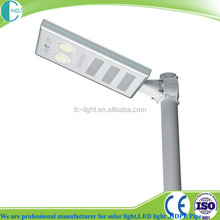 12w IP65 outdoor lighting integrated street solar led light with motion sensor