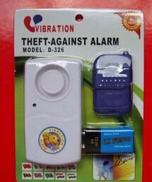 Remote control vibration field Windows burglar alarm with battery motorcycle alarm vibration